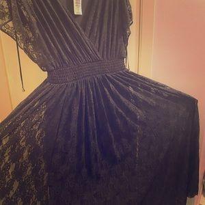 New Black Maxi Torrid dress never worn with tag